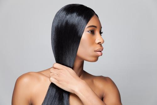 black woman straight hair
